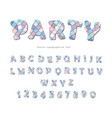 party trendy font sequins textured letters and vector image vector image