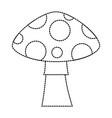pixelated game mushroom icon vector image