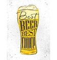 Poster best beer vector image