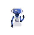 robot toy cheerful chatbot icon vector image