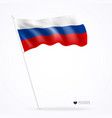 russian flags design banner background vector image vector image