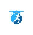 school run logo icon design vector image