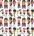 Seamless children vector image