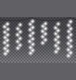 seamless light garlands xmas winter holidays vector image