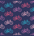 seamless pattern with bicycles vector image vector image