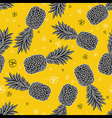 Seamless pattern with pineapples vector image vector image