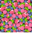 seamless texture consists of berries vector image vector image
