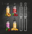 set e-cigarette vape pen vector image vector image
