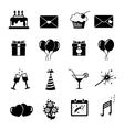 Set of celebratory icons symbols vector image vector image