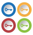 set of four icons - key vector image