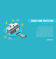 smart home controlled smartphone smart home vector image