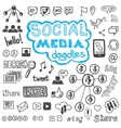 Social Media Doodles Hand Drawn Design Elements vector image vector image