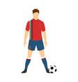 spain football uniform national team vector image