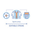 sports training camp concept icon summer active vector image