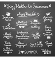 summer letterings vector image vector image