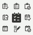survey icon vector image vector image