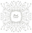 vintage floral ornament for invitations vector image