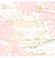 vintage tropical worn pattern vector image vector image