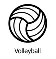 volleyball icon simple black style vector image vector image
