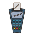 voucher machine isolated icon vector image