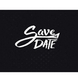 white save date texts on abstract black vector image vector image