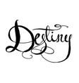 word destiny vector image vector image