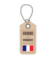hang tag made in france with flag icon isolated on vector image