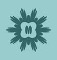 simple and elegant monogram for letters m vector image
