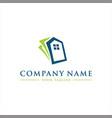 abstract money home logo vector image vector image
