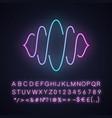 abstract soundwave neon light icon sound audio