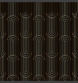art deco linear pattern seamless golden background vector image vector image