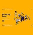 banner donating food vector image
