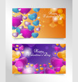 banner valentine day vector image vector image