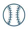 baseball ball equipment isolated icon vector image vector image