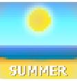 beach sea and sun vector image vector image