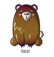 bear icon cartoon style vector image