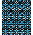 Black and blue stylized symmetric endless pattern vector image vector image