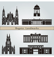 Bogota landmarks and monuments vector image vector image