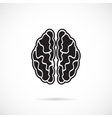 Brain Grey Icon vector image
