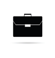 briefcase black vector image vector image