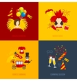 Carnival icons flat composition vector image vector image