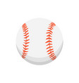 cartoon colorful baseball ball isolated vector image vector image