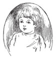 child face in this picture vintage engraving vector image vector image