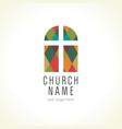 church cross window logo vector image vector image