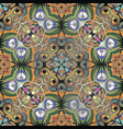 colorful ethnic style abstract seamless pattern vector image