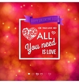 Colorful Valentines Day card design vector image