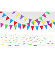 confetti floor and flags vector image vector image