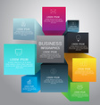 Cube box infographic for business concept with vector image vector image