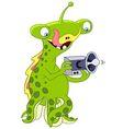 cute and friendly cartoon UFO vector image