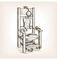 Electric chair sketch style vector image vector image